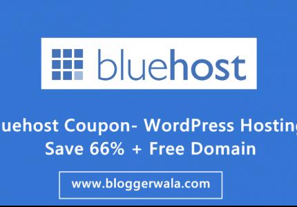 Bluehost Coupon- WordPress Hosting Save 66% + Free Domain