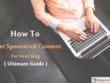 Get Sponsored Content