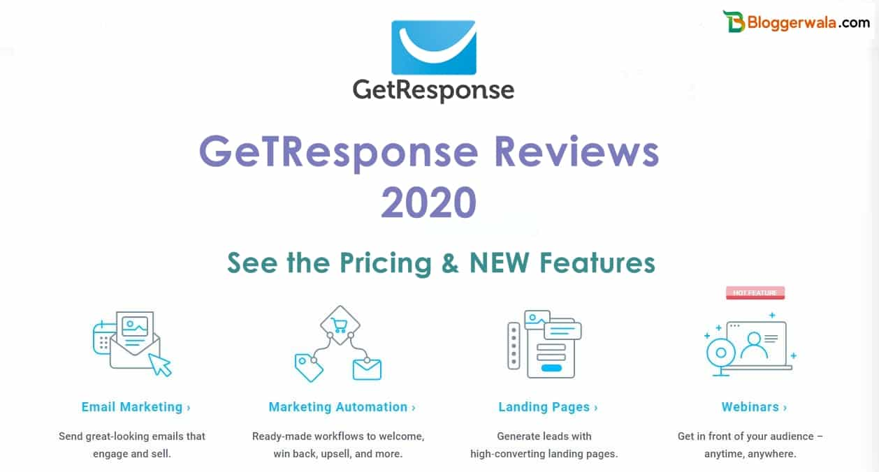 GetResponse Review 2020:- Pricing & Features [ FREE Trial ]